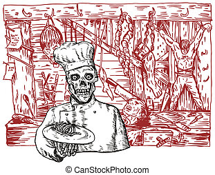 Dungeon Room - Illustration of dungeon room chef baker done...