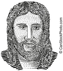 Jesus Christ Front View - Illustration of Jesus Christ...