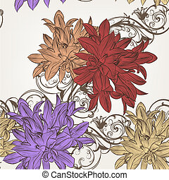 Floral vector seamless pattern for design - Vintage vector...