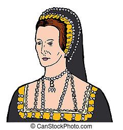 Anne Boleyn - Illustration of Anne Boleyn wife of King...