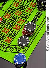 Casino theme, atmospheric light - Gambling games