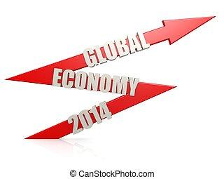 Global economy 2014 arrow