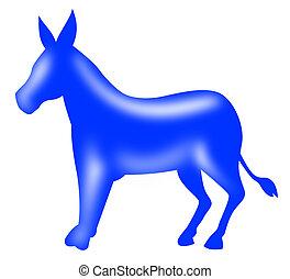 Democrat Donkey Mascot - Illustration of a democrat donkey...