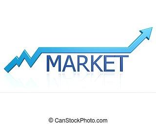 Market graph - Hi-res original 3d rendered computer...