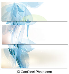Business cards set in blue color - Vector set of abstract...