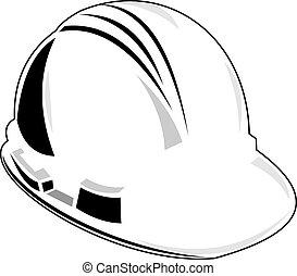 Lineman Hardhat - Illustration of lineman hard hat done in...