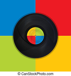 Vintage record Pop Art