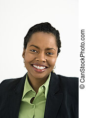 Smiling businesswoman portrait - Portrait of smiling...