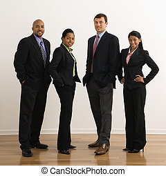 Smiling business portrait - Portrait of businessmen and...