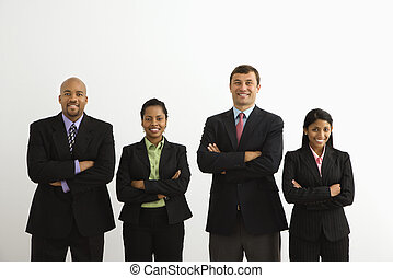 Smiling businesspeople - Portrait of businessmen and...