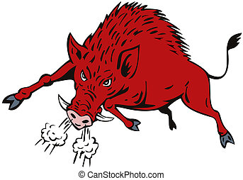 Clip Art Razorback Clipart razorback illustrations and stock art 233 illustration wild hog jumping of a pig boar razorback