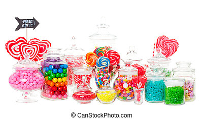Candy Buffet - A candy buffet with a wide variety of candies...