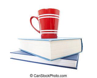 Text Books and Coffee Mug