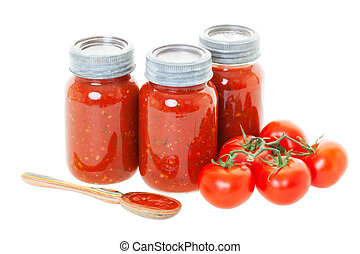 Home Canned Tomato Sauce - Homemade tomato sauce preserved...