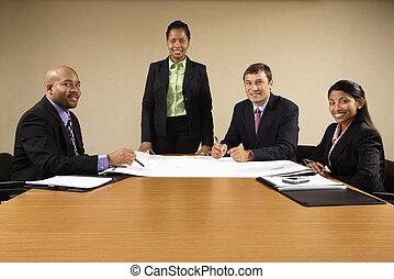 escritório, reunião