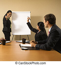 Business teamwork. - Businesspeople sitting at conference...