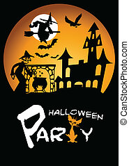 Halloween Party Graphic with Scared - Happy halloween,...
