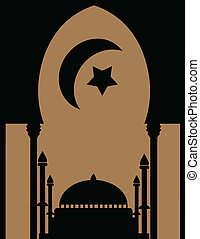 Background with mosque for ramadan and eid