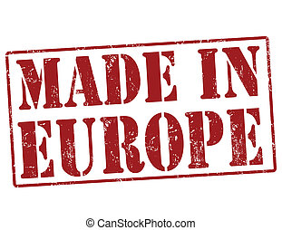 Made in Europe stamp - Made in Europe grunge rubber stamp on...