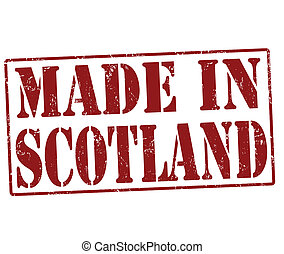Made in Scotland stamp - Made in Scotland grunge rubber...