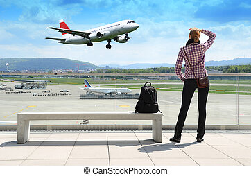 Girl in the airport