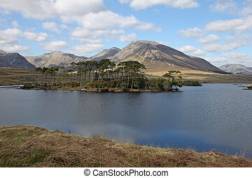 Landscape with lake in Connemara, I - Landscape with lake...