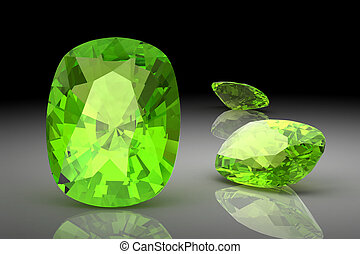 Peridot (high resolution 3D image)