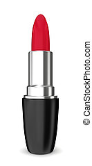 Red lipstick. 3d illustration on white background