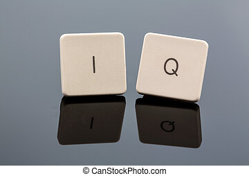 "symbol photo intelligence quotient - the letters ""iq"" as a..."