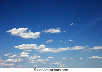 Fluffy clouds - Fluffy clouds in blue sky