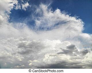 Clouds in sky.