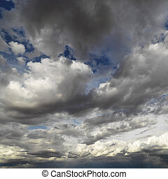 Skyscape. - Cloud formations in sky.
