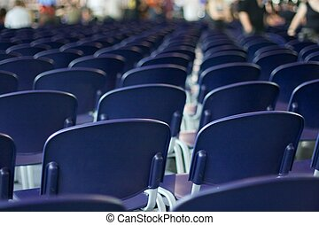 Chairs - Empty rows of chairs at an event