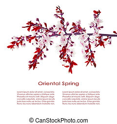 Oriental post card design
