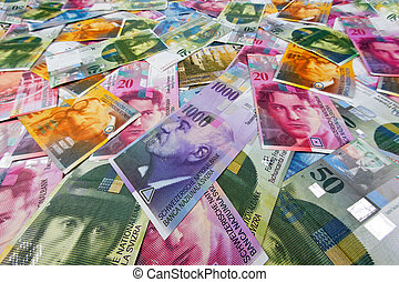 Swiss francs, money and currency of Switzerland