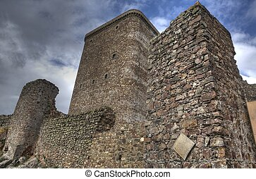 Hight tower of Castle of Feria - The stronghold of Feria is...