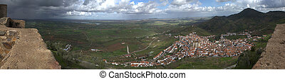 Feria town from the castle - Feria, a Spanish municipality...