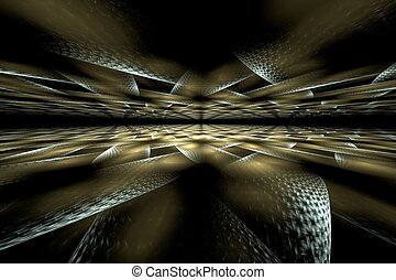 Abstract digital fractal art on perspective