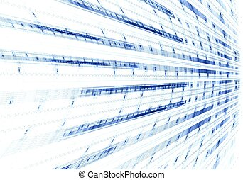 Abstract digital fractal blue art on perspective
