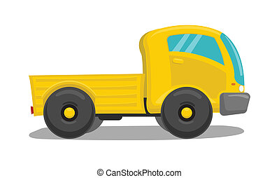 Vector yellow truck
