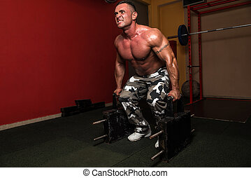 Heavy Weight Deadlift - A Bodybuilder Is Standing and...