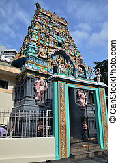 Indian Hindu Temple in Chinatown, Singapore