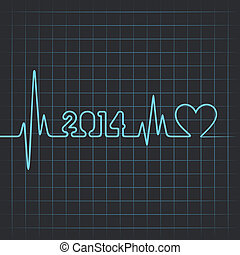 heartbeat make 2014 - Illustration of heartbeat make 2014