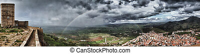 The storm and the rainbow - The stronghold of Feria is one...