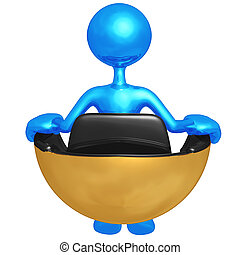 Sitting In Hovering Futuristic Chair - 3D Concept And...