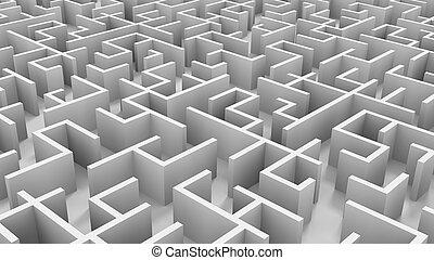 Endless maze - A 3D endless maze qith white walls