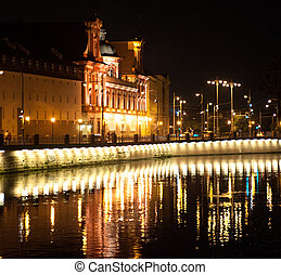 University of Wroclaw at night