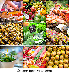 collage of photos from the market