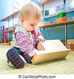 little girl in the classroom early development - cute little...