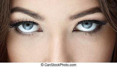 Eyes - Beautiful blue eyes close-up